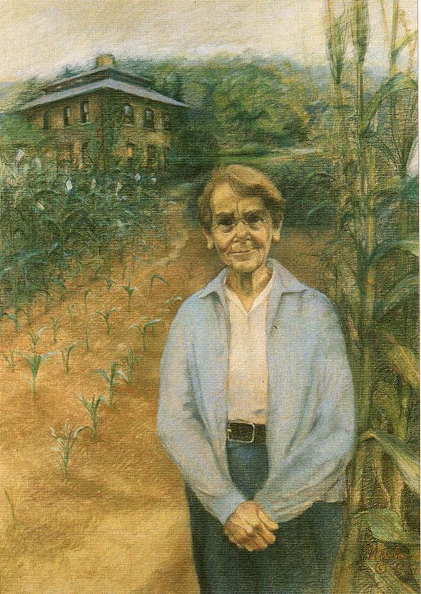 Barbara McClintock Painting